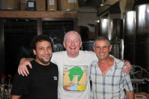Oz Clarke at the winery